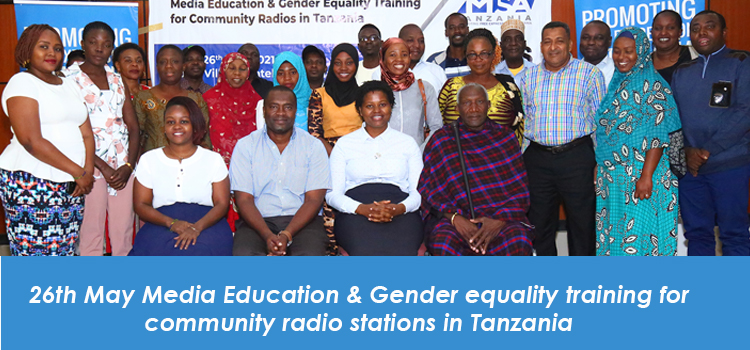 Media Education & Gender equality training for community radio stations in Tanzania